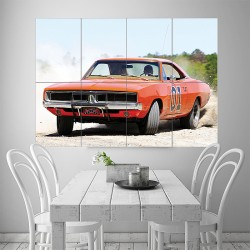 Dukes of Hazzard Dodge Charger Block Giant Wall Art Poster (P-1712)