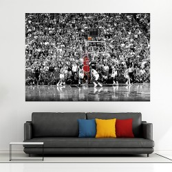 Michael Jordan Basketball Block Giant Wall Art Poster (P-1713)