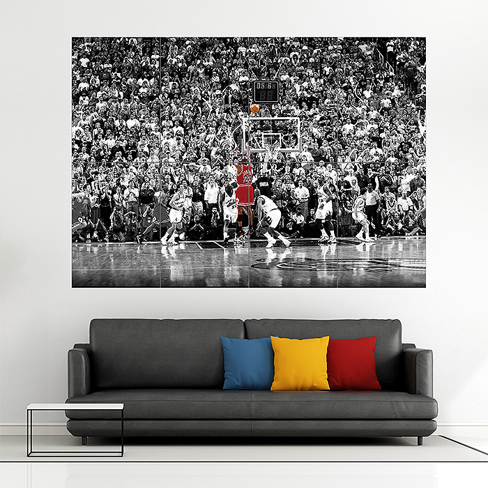 Michael Jordan Basketball Block Giant Wall Art Poster