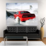 Dodge Charger Car Hellcat Block Giant Wall Art Poster
