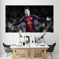 Lionel Messi Block Giant Wall Art Poster (P-1716)