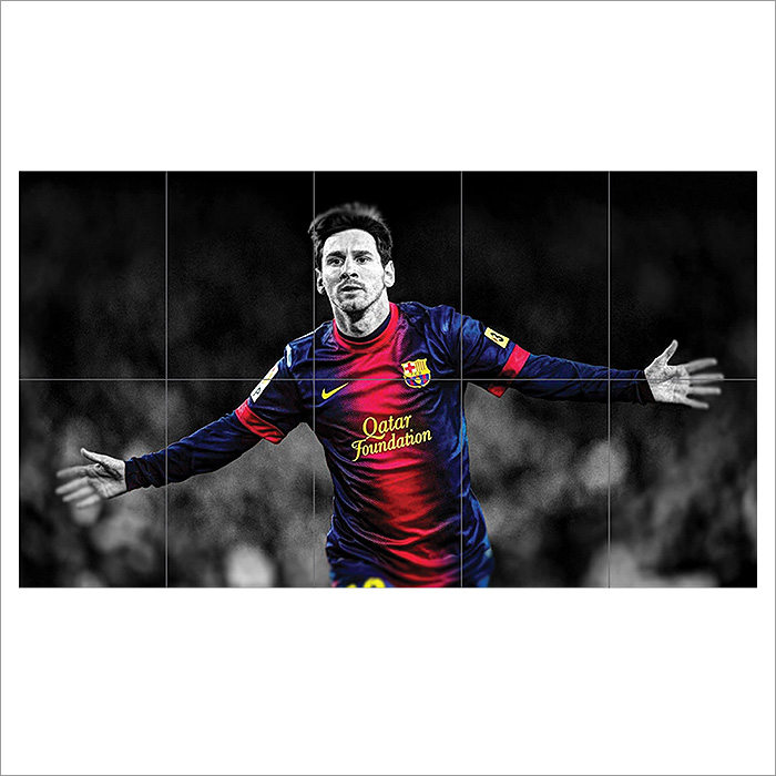Lionel Messi Block Giant Wall Art Poster