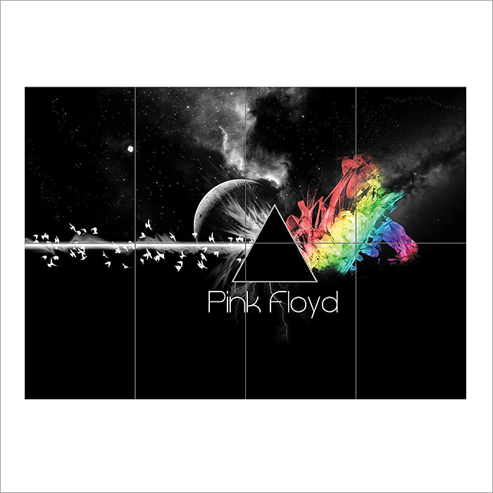 Pink Floyd Dark Side Of The Moon Block Giant Wall Art Poster