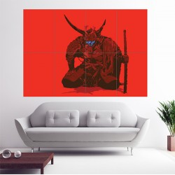 Blade of Ronin Samurai Warrior Katana Sword Block Giant Wall Art Poster (P-1719)