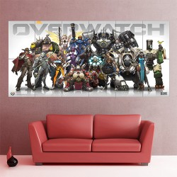 Overwatch Character Block Giant Wall Art Poster (P-1721)