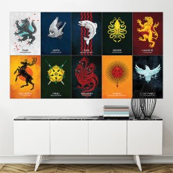Game of Thrones - House Sigils Block Giant Wall Art Poster (P-1723)