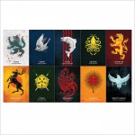 Game of Thrones - House Sigils Block Giant Wall Art Poster
