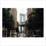 Brooklyn Bridge in New York Block Giant Wall Art Poster