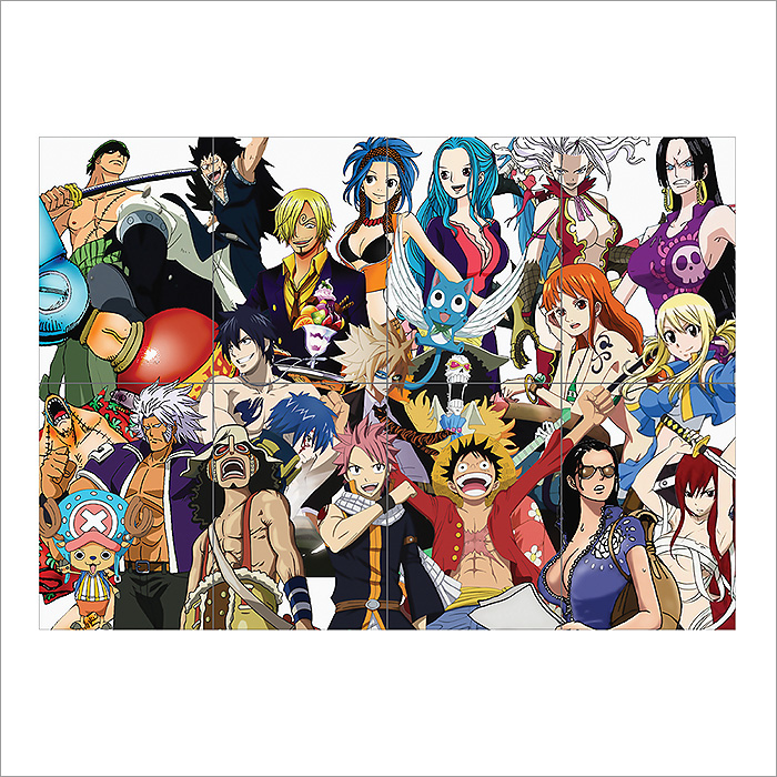 Fairy Tail Vs One Piece 2 0: Fairy Tail Vs Straw Hat Pirates One Piece Block Giant Wall