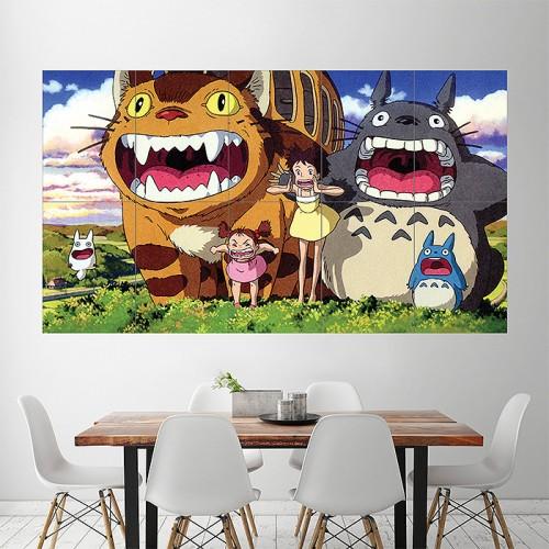 My Neighbor Totoro Block Giant Wall Art Poster