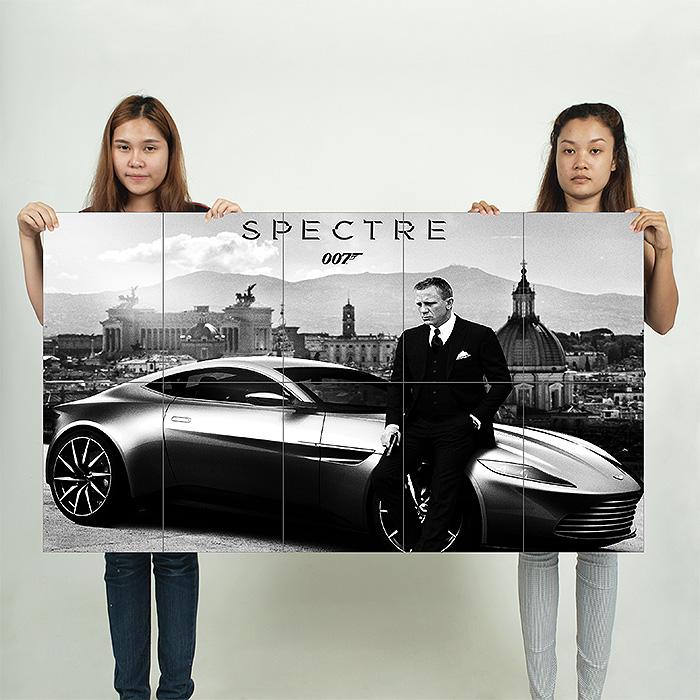 James Bond 007 Spectre Movie Block Giant Wall Art Poster