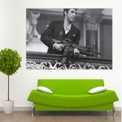 Scarface Tony Montana Al Pacino Block Giant Wall Art Poster (P-1731)