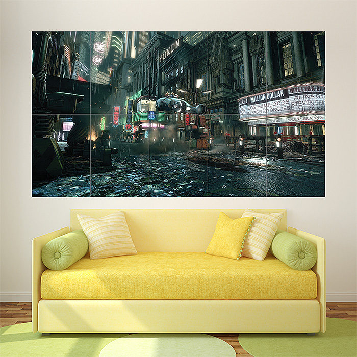 & Blade Runner Poster Sci Fi Movie Block Giant Wall Art Poster