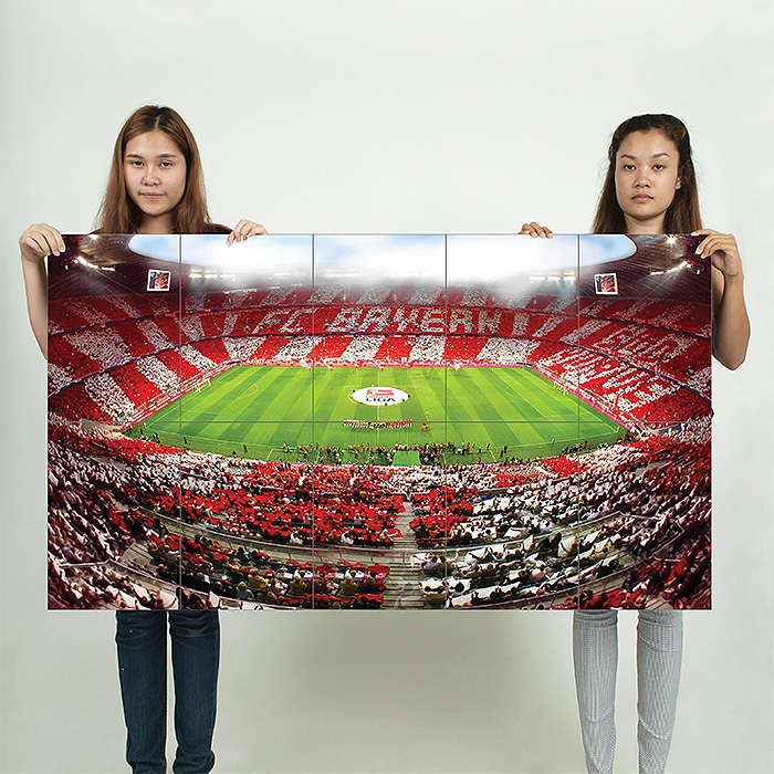 fc bayern munich allianz arena germany football soccer block giant poster. Black Bedroom Furniture Sets. Home Design Ideas