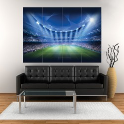 Football Stadium Soccer Block Giant Poster (P-1736)