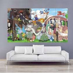 โปสเตอร์ ขนาดใหญ่ การ์ตูน โทโทโร่เพื่อนรัก Studio Ghibli Character Totoro (P-1738)
