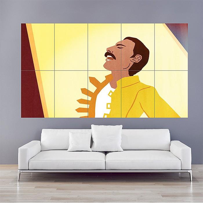 Queen Freddie Mercury Block Giant Wall Art Poster