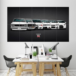 Nissan Skyline GTR Evolution for Twitter Header Block Giant Wall Art Poster (P-1745)
