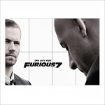One Last Ride Furious 7 With Paul Walker Block Giant Wall Art Poster