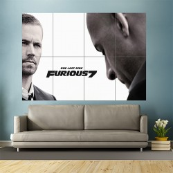 One Last Ride Furious 7 With Paul Walker Block Giant Wall Art Poster (P-1749)
