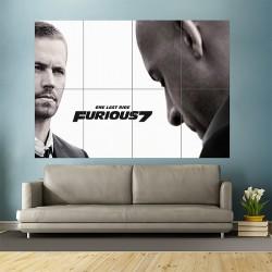 โปสเตอร์ ขนาดใหญ่ ภาพยนต์ One Last Ride Furious 7 With Paul Walker  (P-1749)