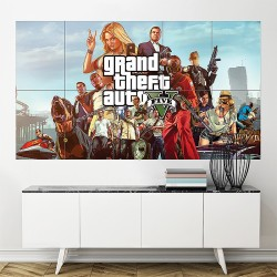 Grand Theft Auto Five Block Giant Wall Art Poster (P-1753)