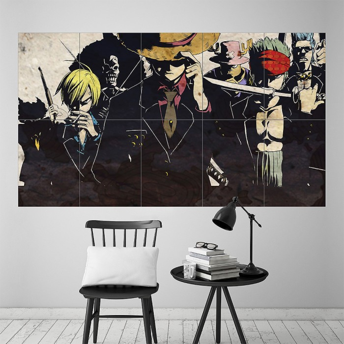 Anime Wall Art one piece manga anime version 5 block giant wall art poster