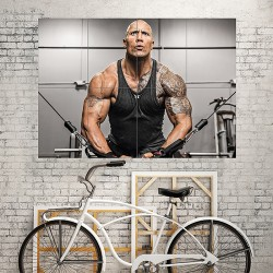 Dwayne Johnson Fitness Block Giant Wall Art Poster (P-1769)