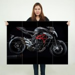 2016 mv Agusta Brutale 800 Motorcycle Block Giant Wall Art Poster