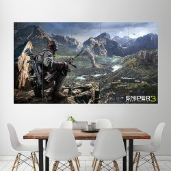 Sniper Ghost Warrior 3 ps4 xbox Block Giant Wall Art Poster (P-1771)