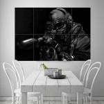 Call Of Duty Warrior Soldier Weapon Gun Block Giant Wall Art Poster