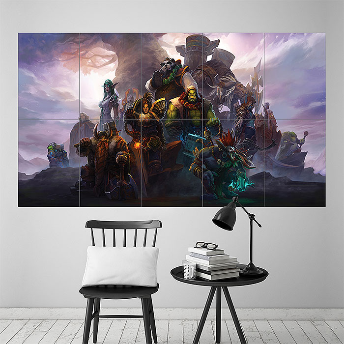 World of Warcraft Characters Block Giant Wall Art Poster