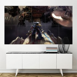 Warhammer 40000 Space Marine Ultramarines Block Giant Wall Art Poster (P-1778)