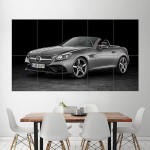 2016 Mercedes Benz SLC 300 Block Giant Wall Art Poster