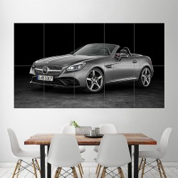 2016 Mercedes Benz SLC 300 Block Giant Wall Art Poster (P-1779)
