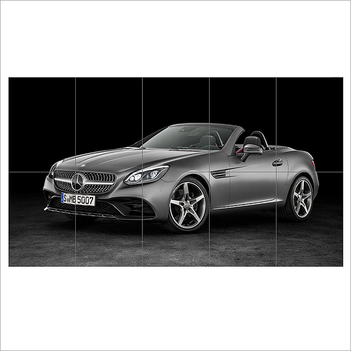 2016 mercedes benz slc 300 block giant wall art poster for Mercedes benz poster