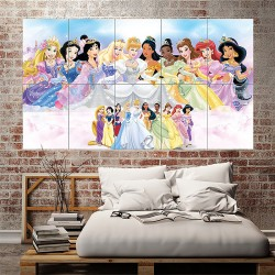 Disney Princess Block Giant Wall Art Poster (P-1782)