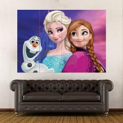โปสเตอร์ ขนาดใหญ่ ภาพการ์ตูน Frozen Animation Fantasy  (P-1783)