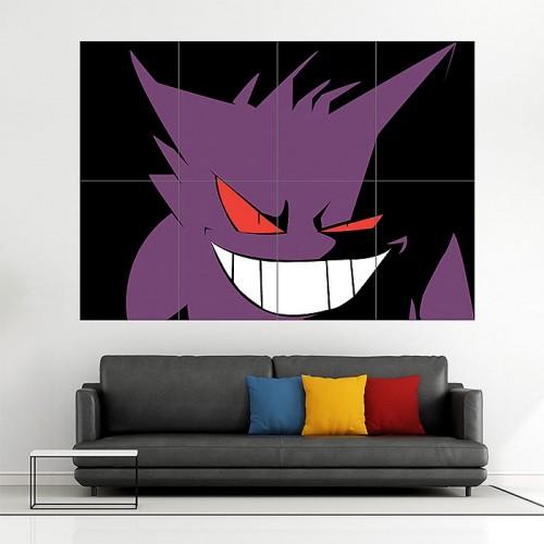 Pokemon Gengar Block Giant Wall Art Poster