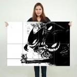 Pokemon Gengar Stalking Block Giant Wall Art Poster