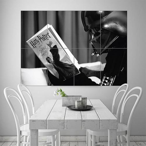 Darth Vader reading Harry Potter Block Giant Wall Art Poster
