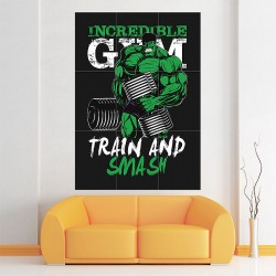 Hulk Train and Smash Block Giant Wall Art Poster (P-1789)
