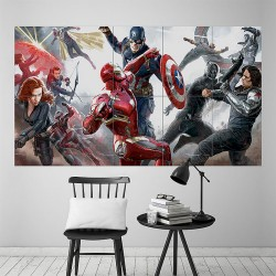 Captain America Civil War Block Giant Wall Art Poster (P-1792)