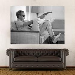 Steve Mcqueen Gun Movie Block Giant Wall Art Poster (P-1795)