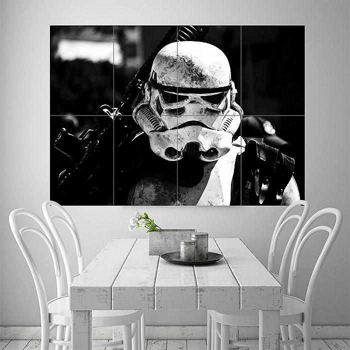 stormtrooper star wars wand kunstdruck riesenposter. Black Bedroom Furniture Sets. Home Design Ideas