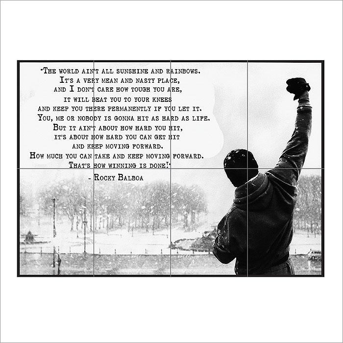 Rocky Balboa Inspirational Motivational Film Movie Quotes