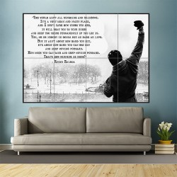 Rocky Balboa Inspirational Motivational Film Movie Quotes Block Giant Wall Art Poster (P-1801)