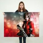 Ada Wong Resident Evil Block Giant Wall Art Poster