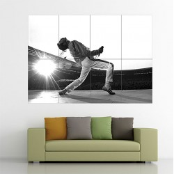 The Queen Freddie Mercury Block Giant Wall Art Poster (P-1803)
