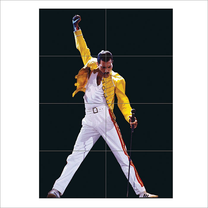 Iconic Freddie Mercury Block Giant Wall Art Poster